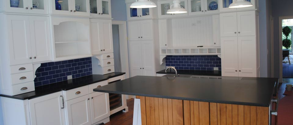 Tile Hutch and Granite Island